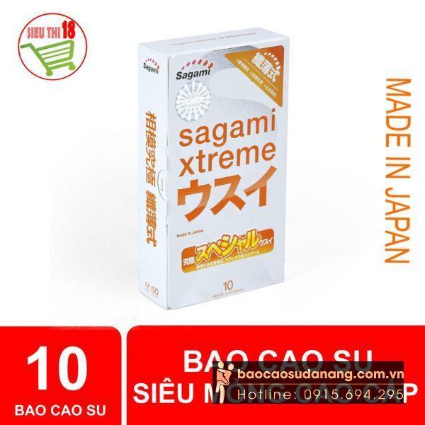 Bao Cao Su Sagami Xtreme Super Thin siêu mỏng 0.03 bán Đà Nẵng